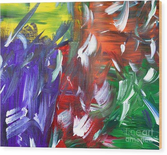 Abstract Series E1015al Wood Print