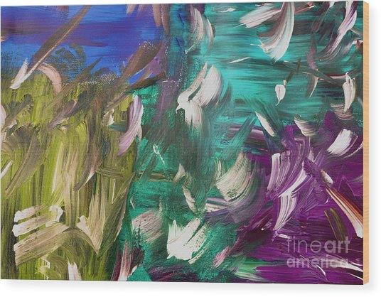 Wood Print featuring the painting Abstract Series E1015bl by Mas Art Studio