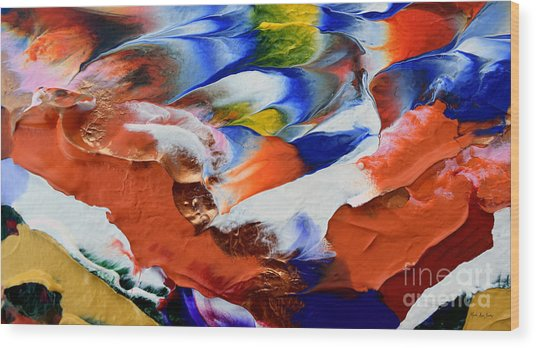 Wood Print featuring the painting Abstract Series N1015al  by Mas Art Studio