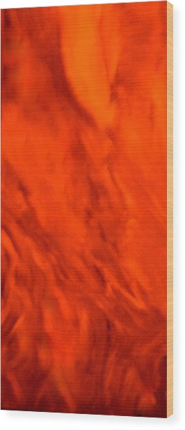 Abstract-simply Red Wood Print by Sherri's - Of Palm Springs