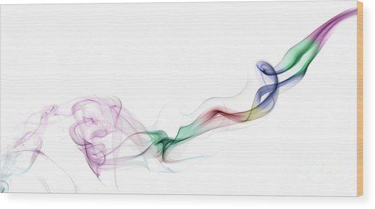 Abstract Smoke Wood Print