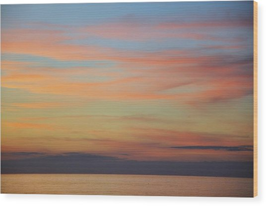 Abstract Sunset By Nature Wood Print by Rose  Hill