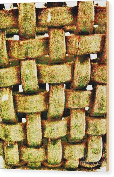 Abstract Texture Wood Print by Marsha Heiken