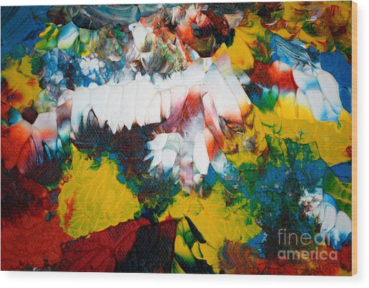 Wood Print featuring the painting Abstract U1112a by Mas Art Studio