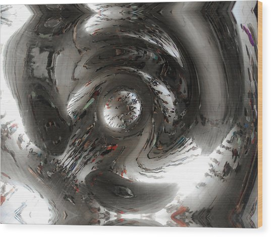 Abstract Underbelly Of The Bean, Chicago Il Wood Print
