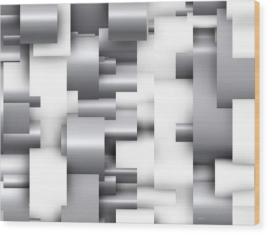 Abstract White And Grey Wood Print