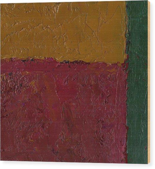 Abstract Xv Green Buffer Wood Print by Chris  Riley