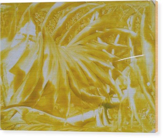 Abstract Yellow  Wood Print
