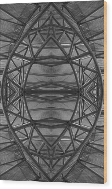 Abstraction 2 Wood Print by Robert Ullmann