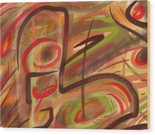 Abstraction Collect 2 Wood Print