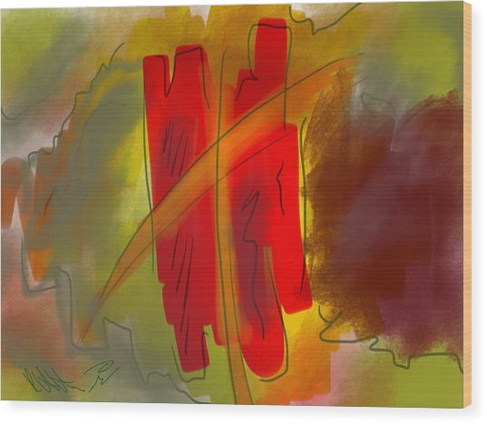 Abstraction Collect 3 Wood Print