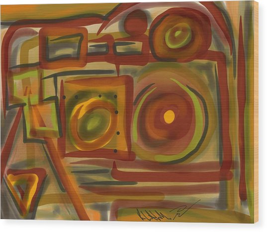 Abstraction Collect 4 Wood Print