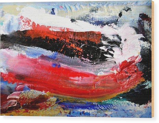 Abstraktes Bild 25 Wood Print by Eckhard Besuden