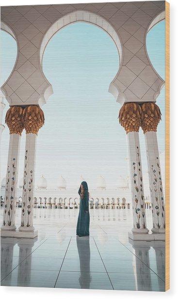 Abu Dhabi Mosque Wood Print
