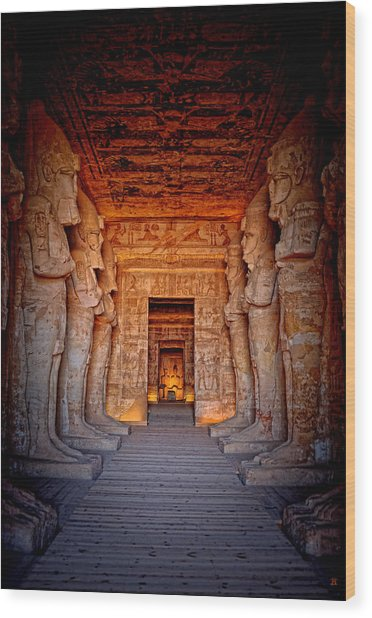 Abu Simbel Great Temple Wood Print