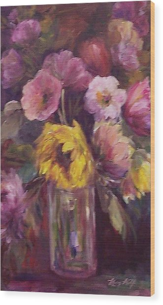 Abundance- Floral Painting Wood Print