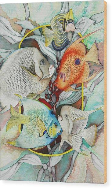 Abundant On The Reef Wood Print by Liduine Bekman