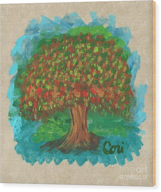 Abundant Tree Wood Print