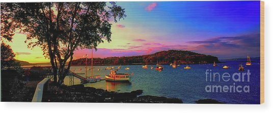 Acadia Bar Harbor Sunset Cruises.tif Wood Print