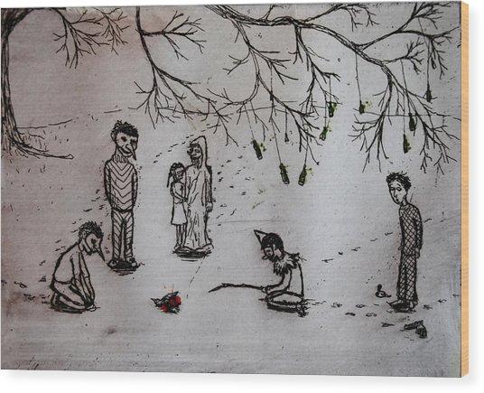 Accidental Shot Wood Print