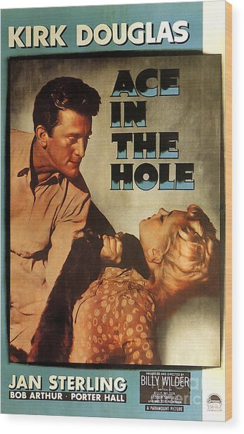 Ace In The Hole Film Noir Wood Print