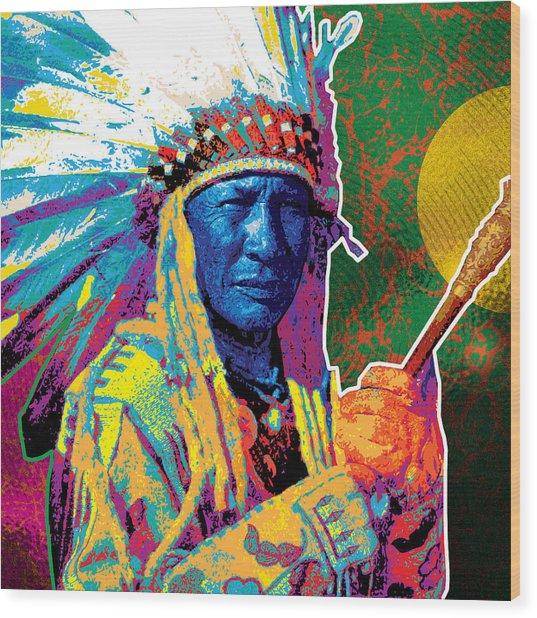 Aceca Indian Chief Wood Print