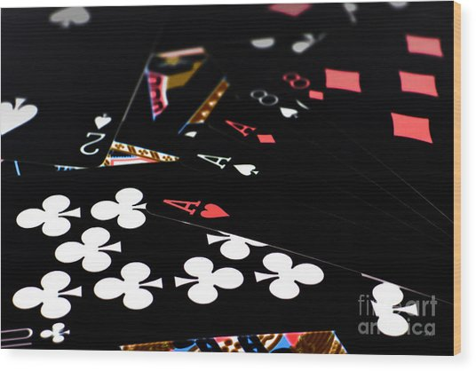 Aces And Eights Wood Print
