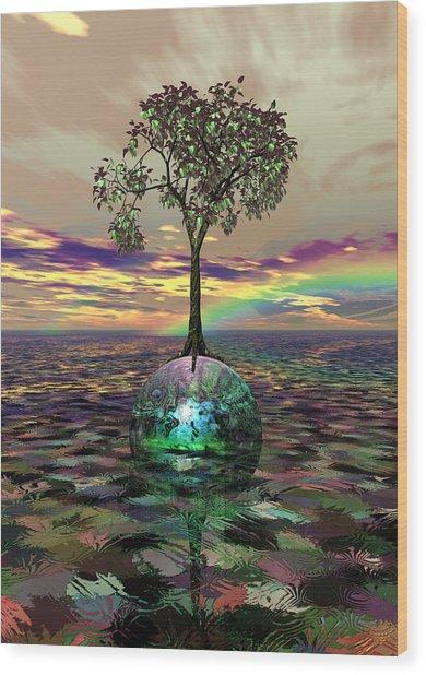 Acid Tree Wood Print