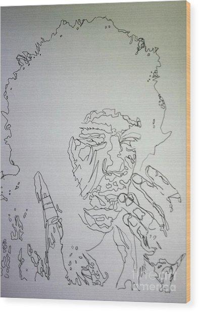 Acid Trip Jimi Wood Print