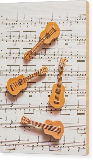 Acoustic Quartet Wood Print