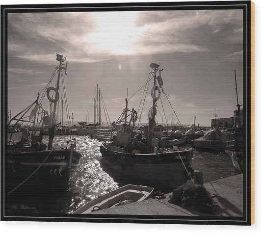 Acre  Fishing Port Wood Print