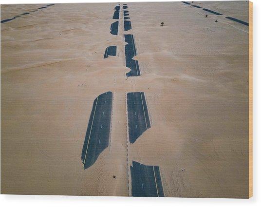 Across Sahara Wood Print