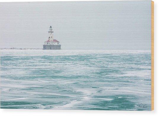 Across The Frozen Lake Wood Print