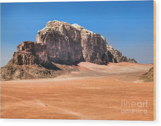 Across Wadi Rum Wood Print