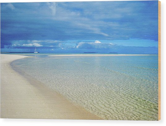 Adagio Alone In Ouvea, South Pacific Wood Print