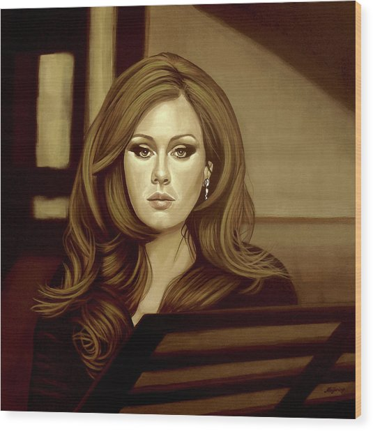 Adele Gold Wood Print
