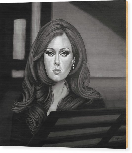 Adele Mixed Media Wood Print
