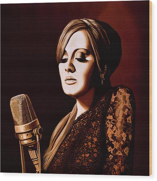 Adele Skyfall Gold Wood Print