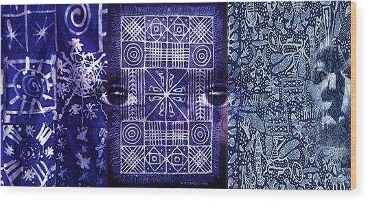 Adire Wood Print
