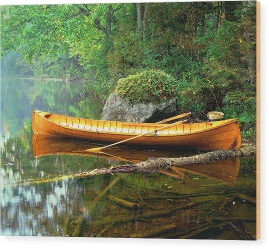 Adirondack Guideboat Wood Print
