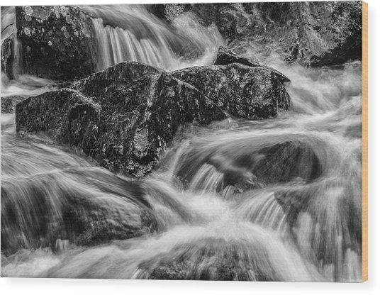 Adirondack Waterfall Wood Print