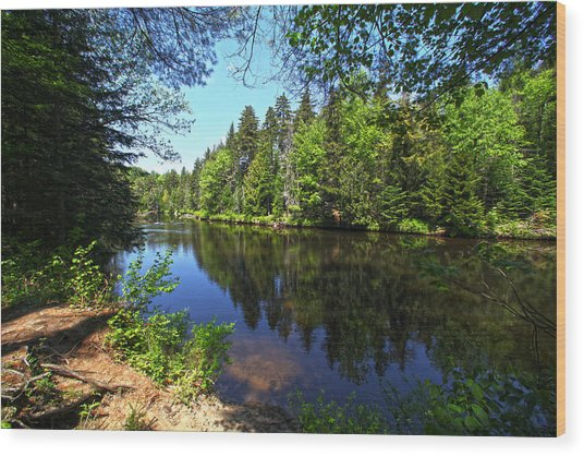 Adirondack Waters Wood Print
