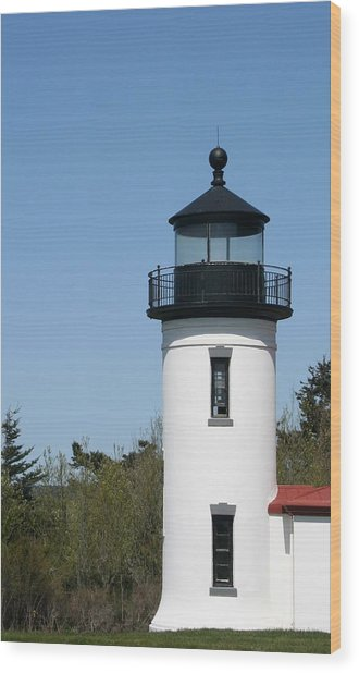 Admiralty Head Lighthouse Li2001 Wood Print by Mary Gaines