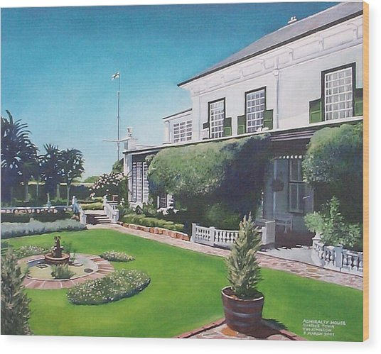 Admiralty House Wood Print