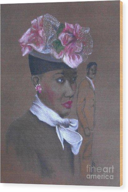 Admirer, 1947 Easter Bonnet -- The Original -- Retro Portrait Of African-american Woman Wood Print