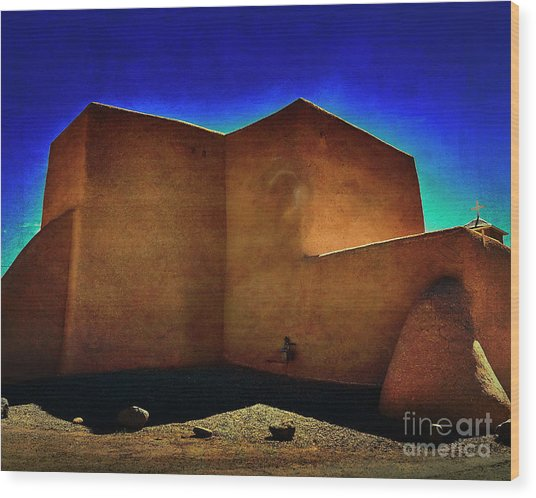 Adobe Church II Wood Print