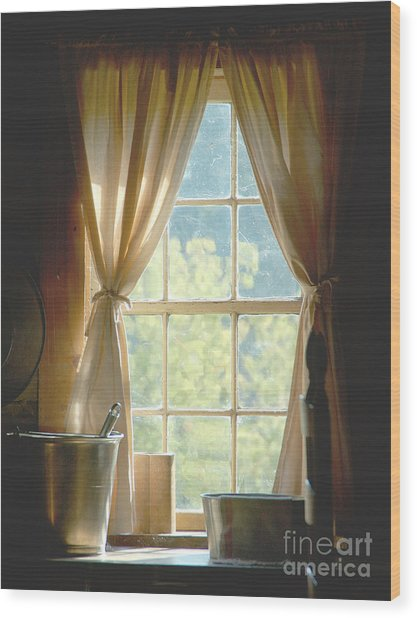 Adobe Window Light Wood Print