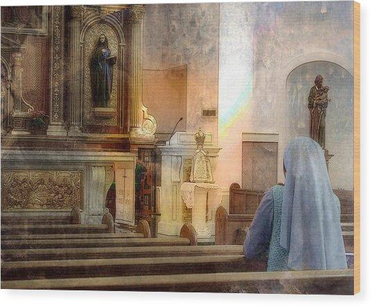 Adoration Chapel Wood Print