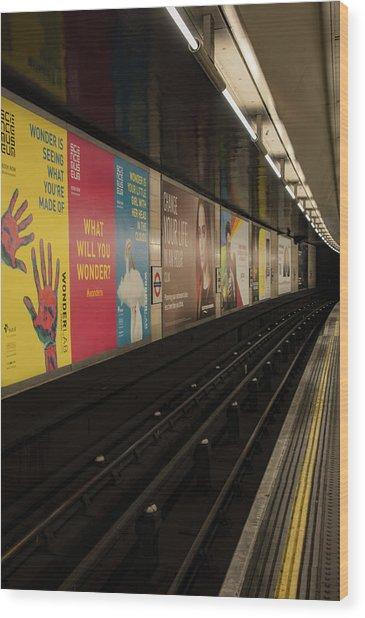 Ads Underground Wood Print