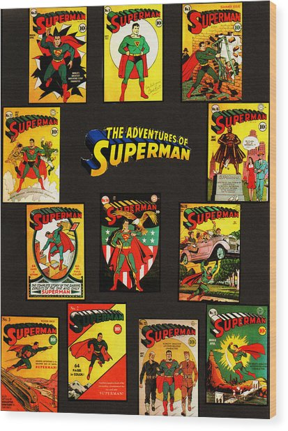 Adventures Of Superman Wood Print